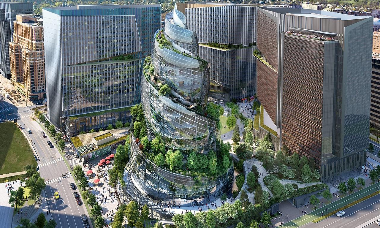 酷似「冰淇淋」,亚马逊公布第二总部大楼概念设计图