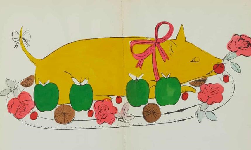 Andy Warhol 罕见食谱画作展开拍卖