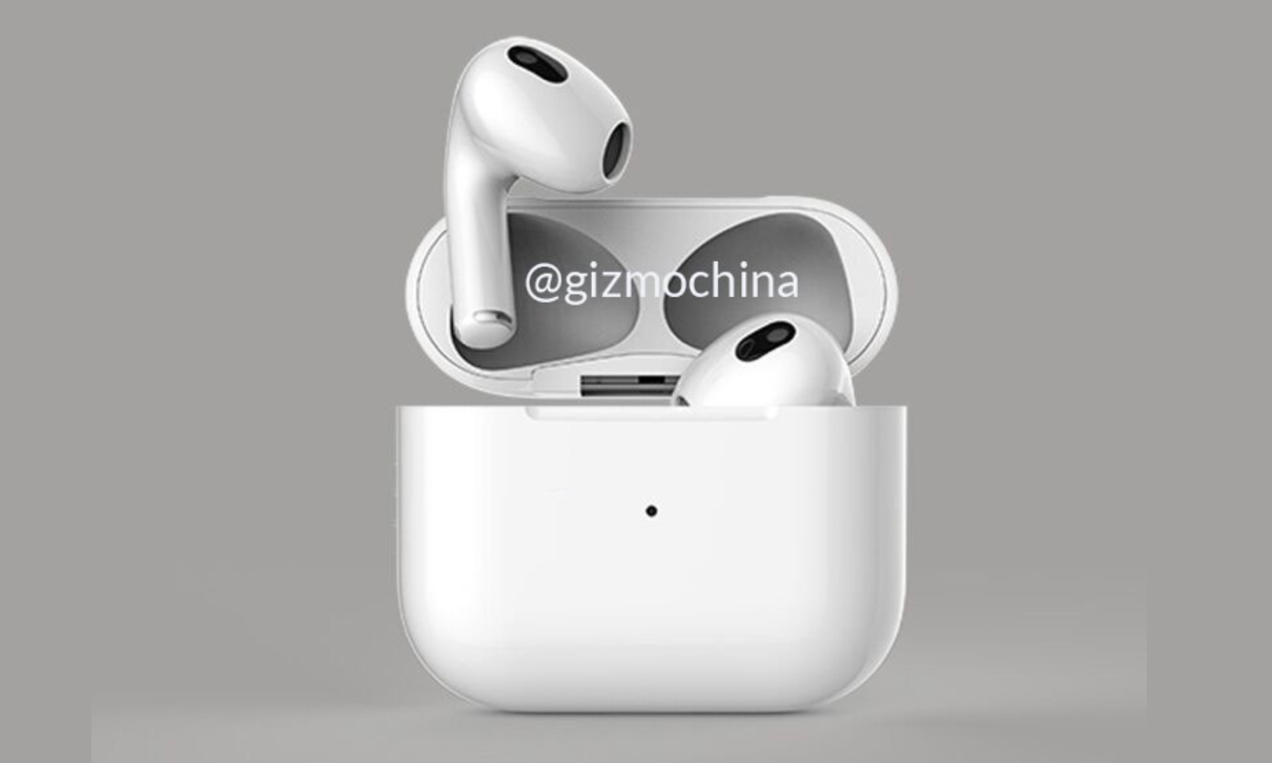 Apple AirPods 3 渲染照释出