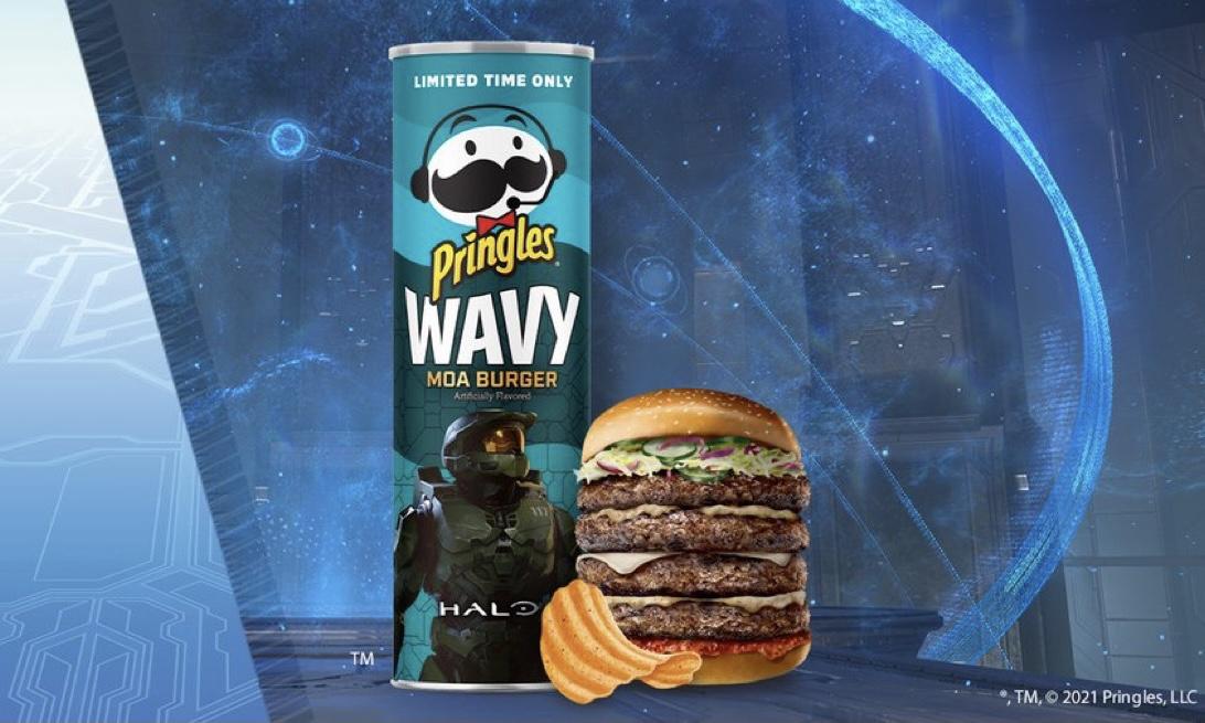 品客推出《光环:致远星》 恐鸟汉堡味薯片