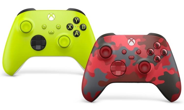 微软再推 Electric Volt 和 Daystrike Camo 定制 Xbox 无线手柄