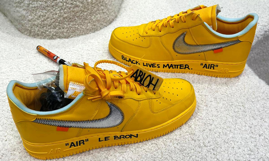 勒布朗·詹姆斯获赠 Off-White™ x Nike Air Force 1 「University Gold」
