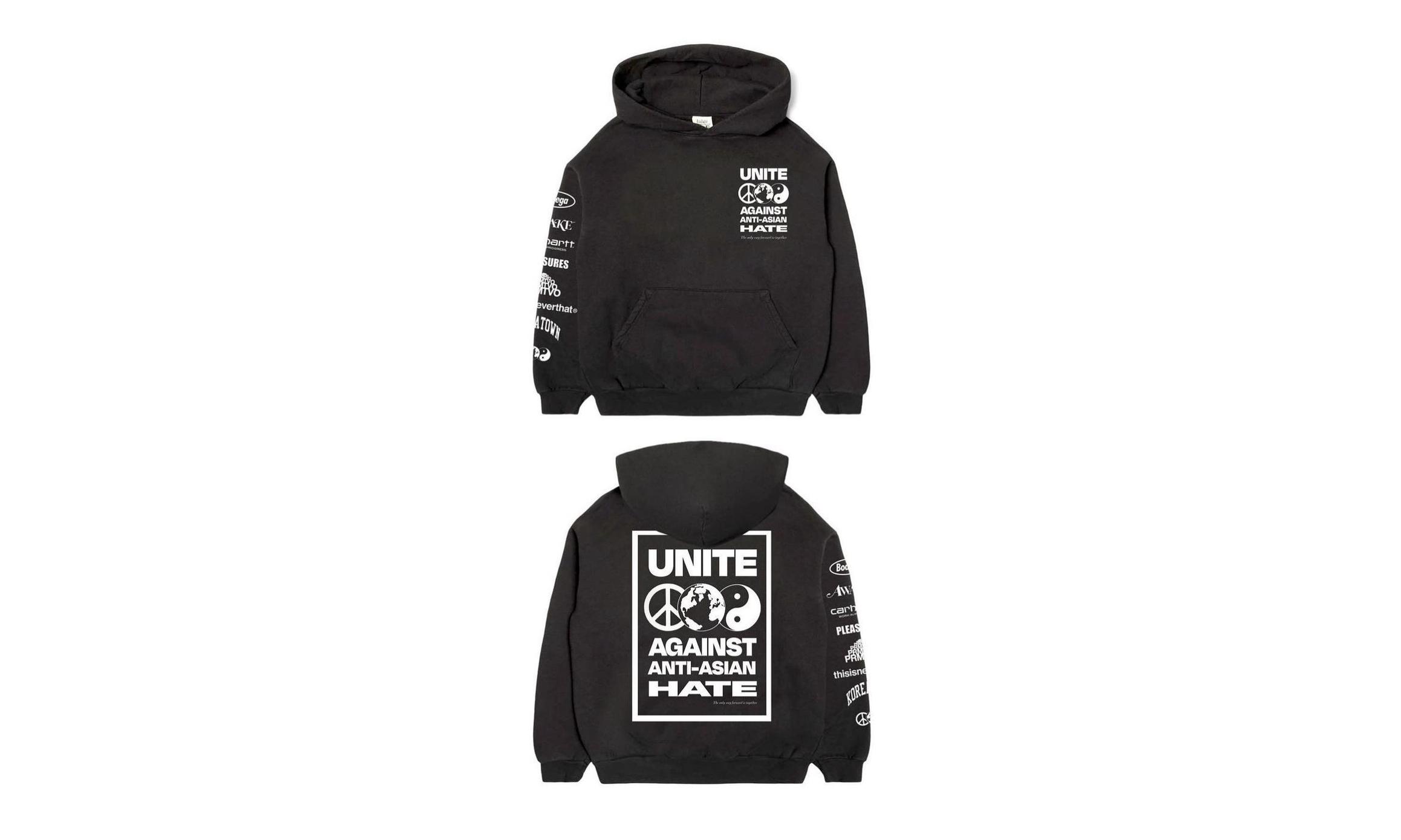 Bodega 联合 6 大潮流品牌推出「Unite Against Anti-Asian Hate」别注卫衣