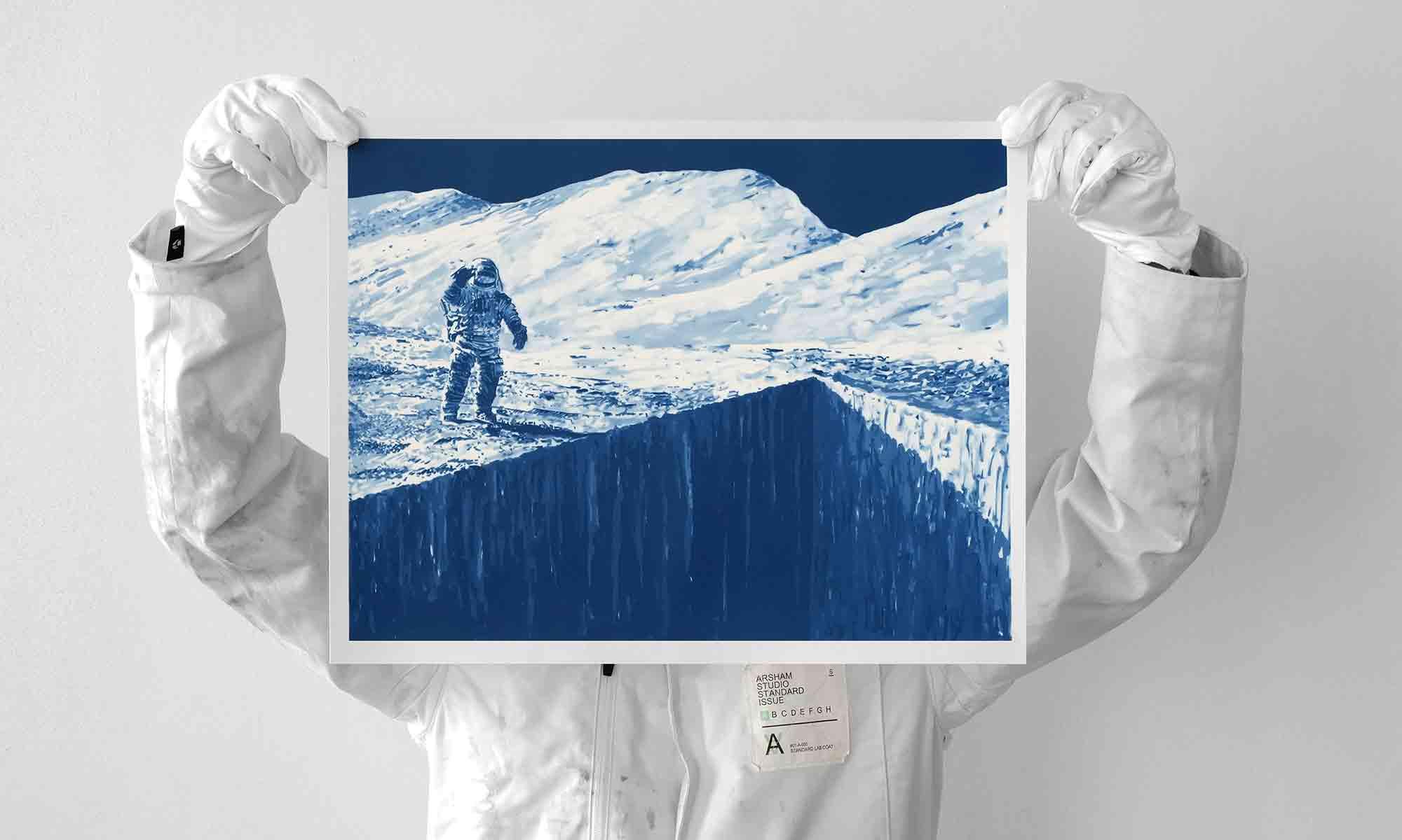 丹尼尔·阿尔轩与 Archive Editions 发布版画作品《月球》