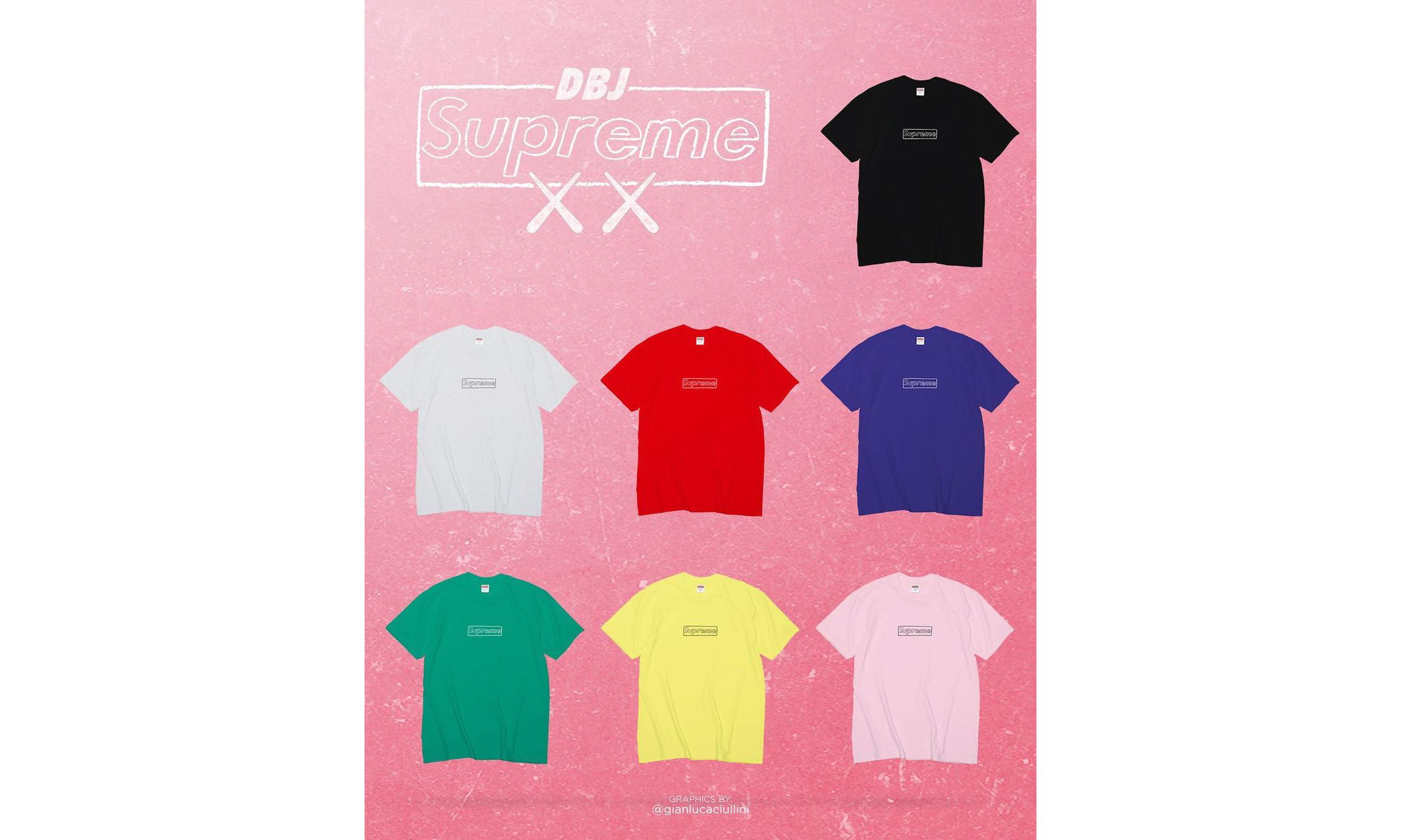 Supreme x KAWS Chalk Box Logo Tee 也将在本季登场