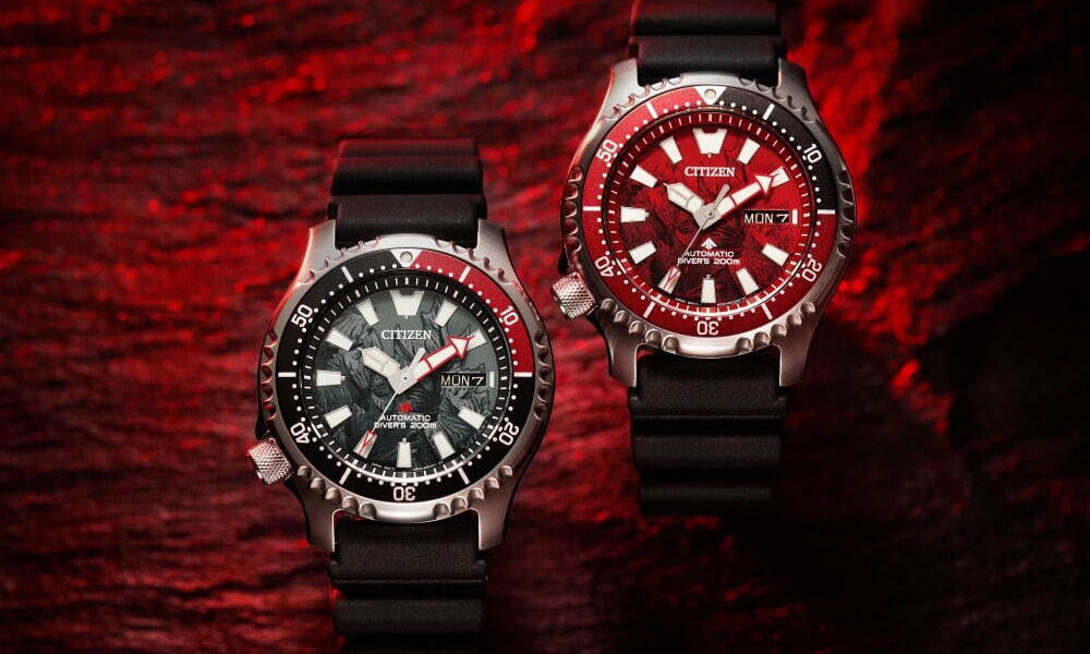 CITIZEN 携手「哥斯拉」推出限量手表
