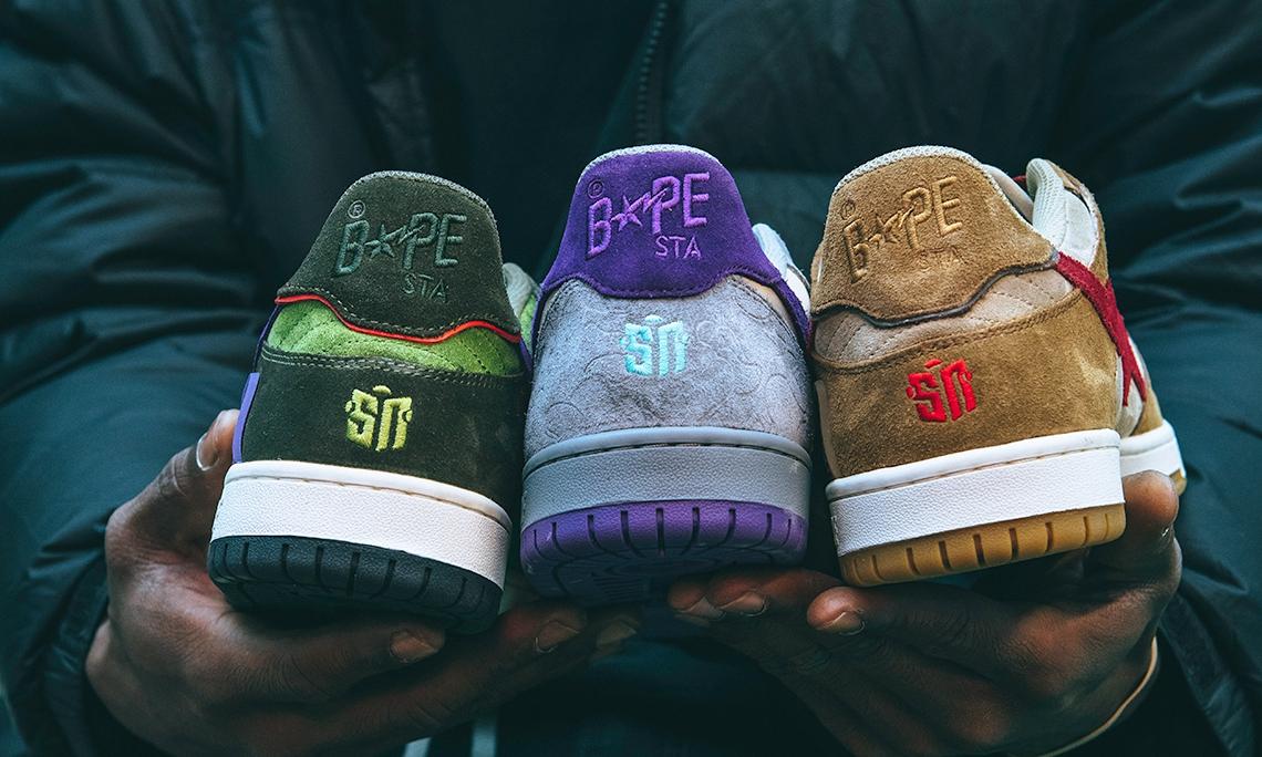 Sneaker News 携手 BAPE® 打造别注鞋款