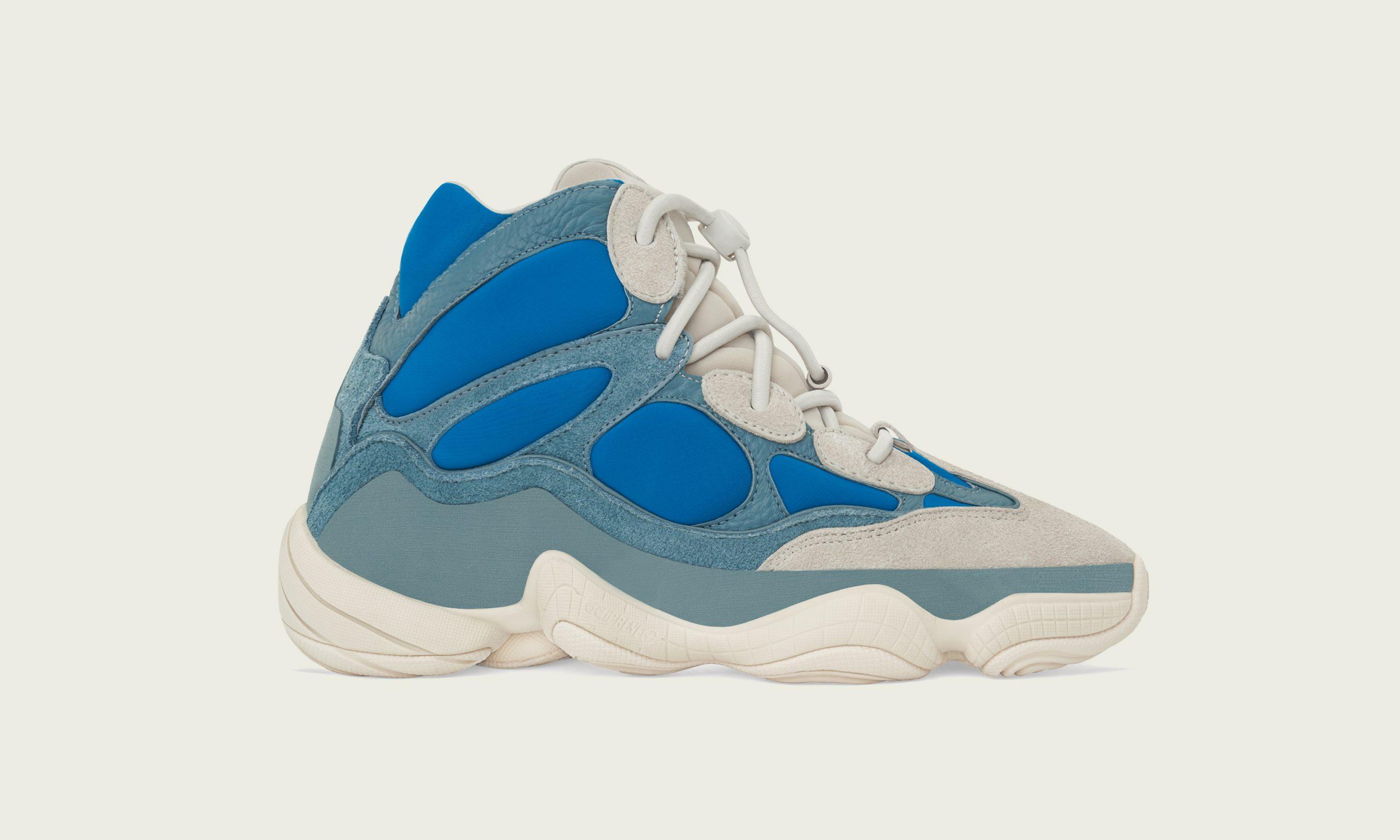 霜蓝降世,adidas Originals 推出 YEEZY 500 HIGH Frost Blue 鞋款