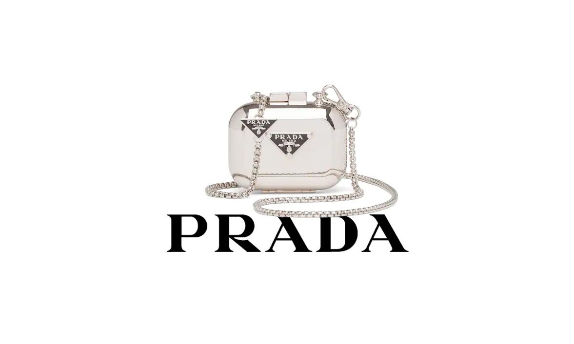爆款预定,PRADA 释出新款金属质感 AirPods 保护壳