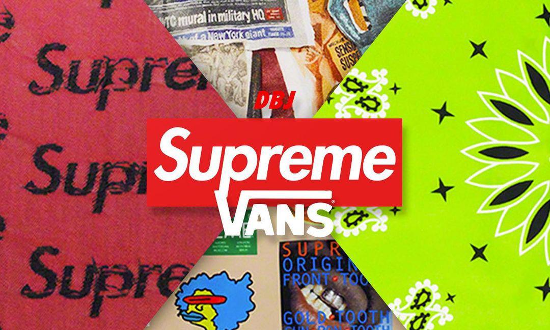 Supreme x Vans 合作系列即将登场