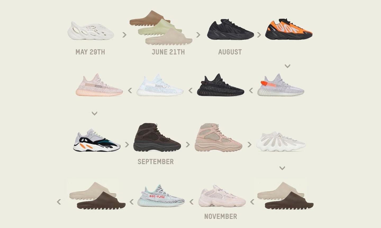 众多 YEEZY 鞋款即将迎来补货发售