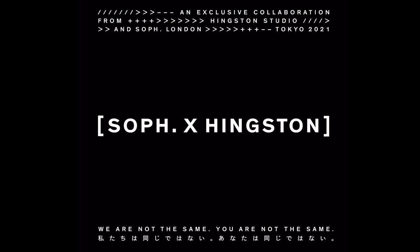 SOPHNET. 发布与 Hingston Studio 全新联乘企划