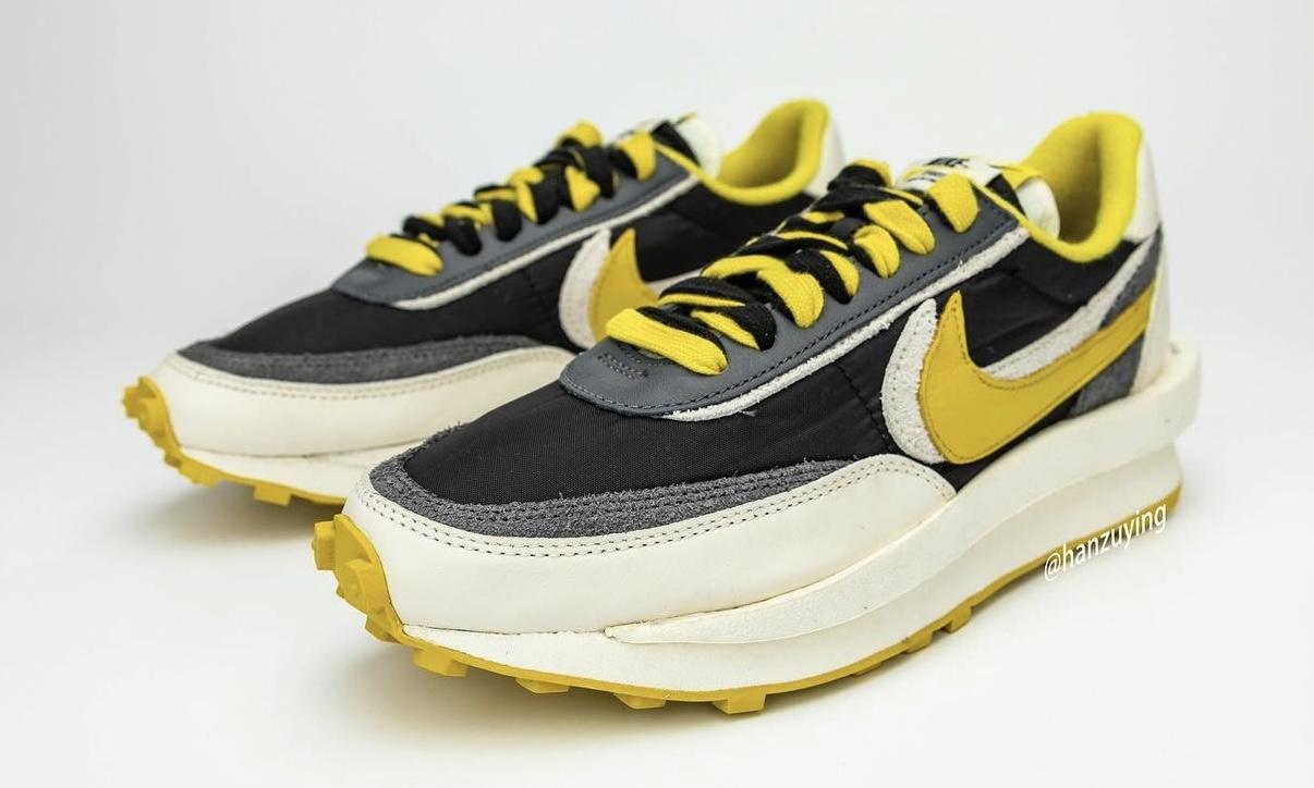 sacai x UNDERCOVER x Nike LDWaffle「Bright Citron」细节图释出