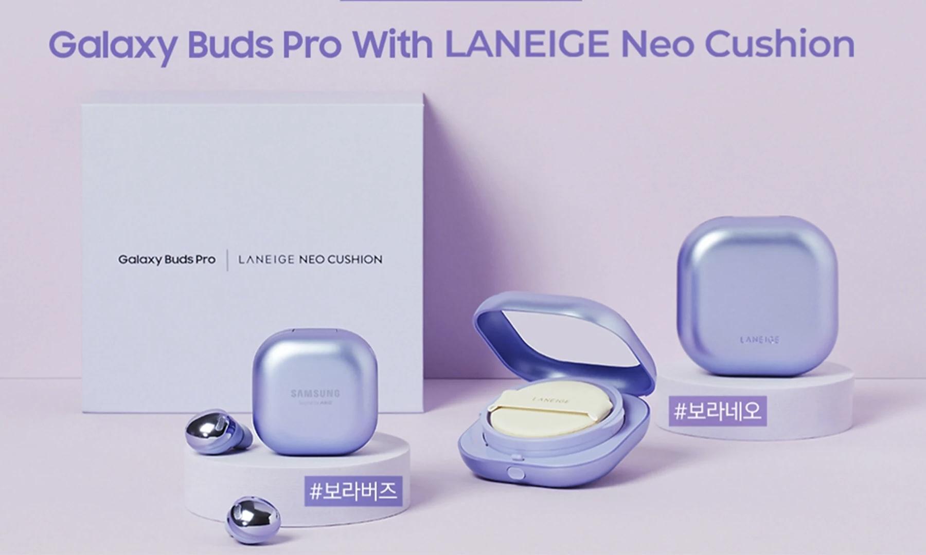 三星与兰芝联合推出 Galaxy Buds Pro LANEIGE Neo Cushion 套盒