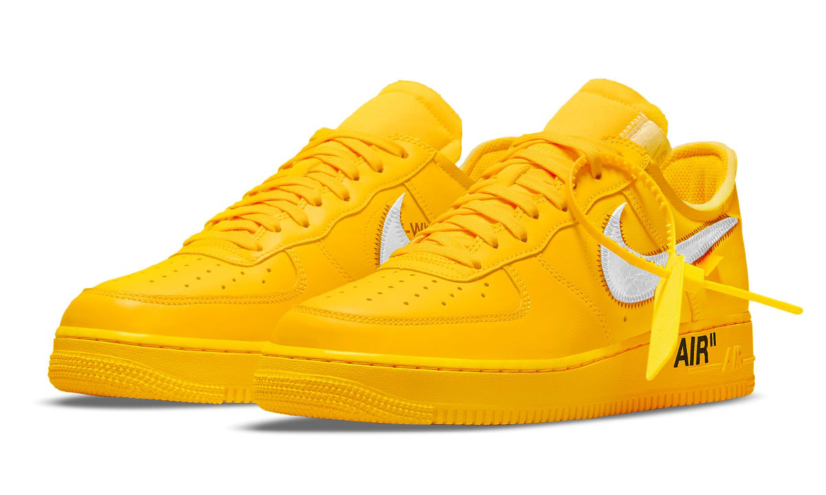 Off White™ x Nike Air Force 1「University Gold」官方图释出