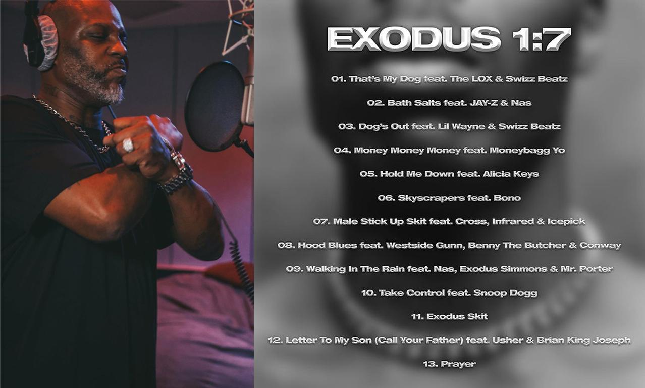 DMX 遗作专辑《EXODUS 1:7》歌单释出
