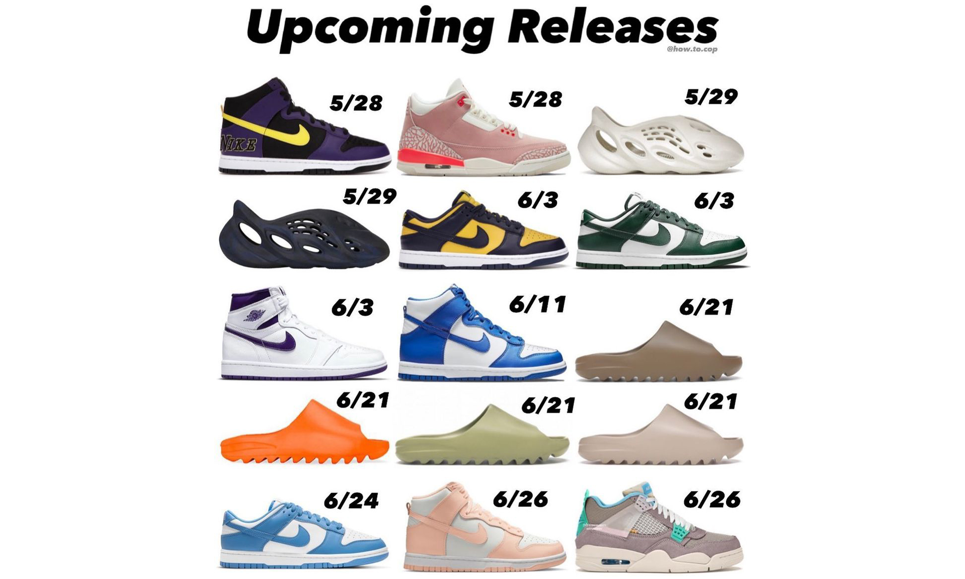 未来一个月重磅球鞋发售清单详览