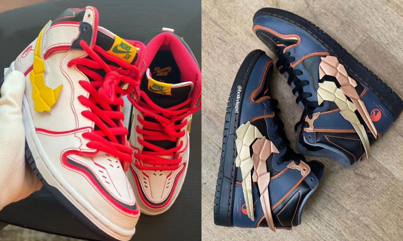 Gundam x Nike SB Dunk High 联名鞋款抢先预览
