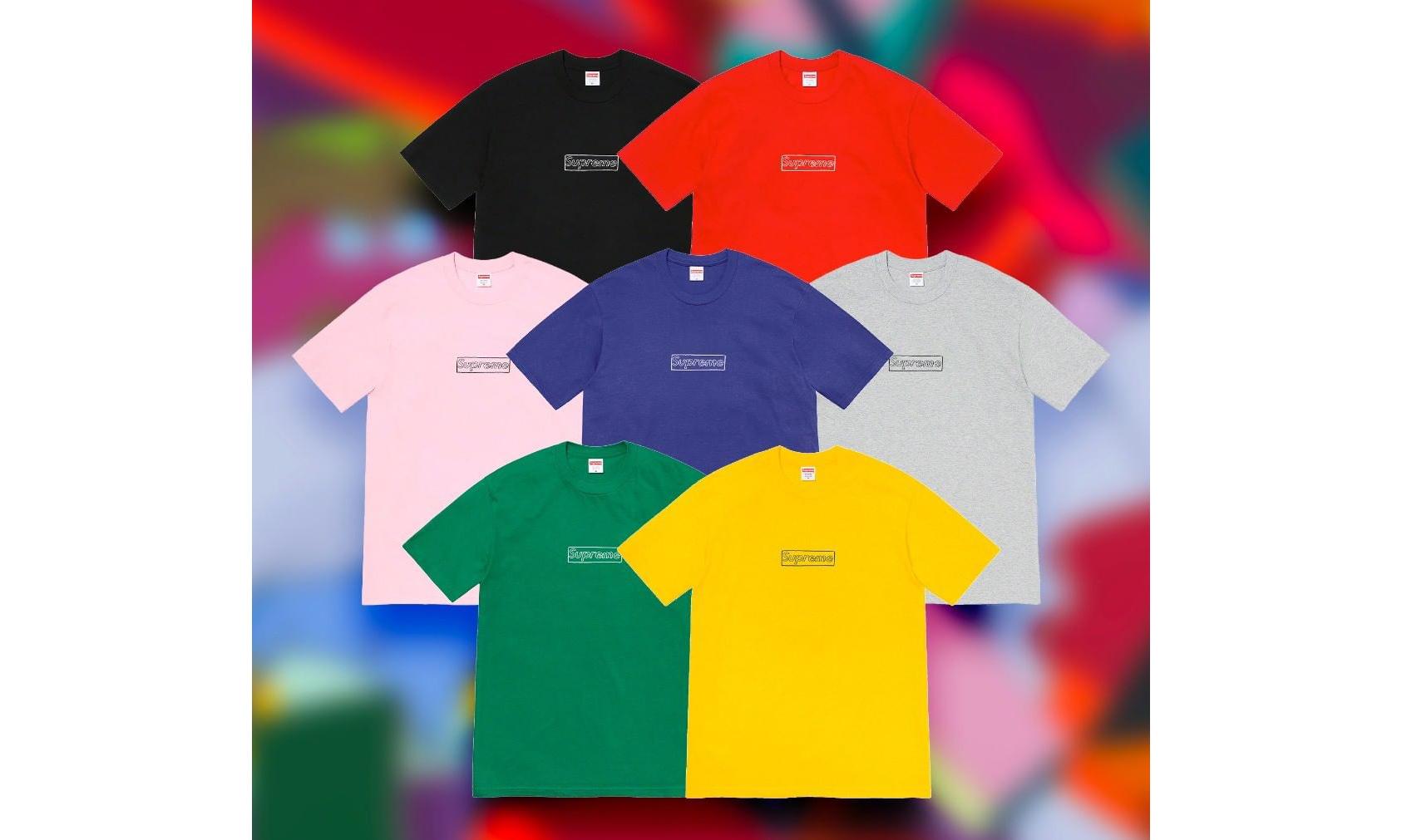 Supreme x KAWS Chalk Logo Tee 本周发售