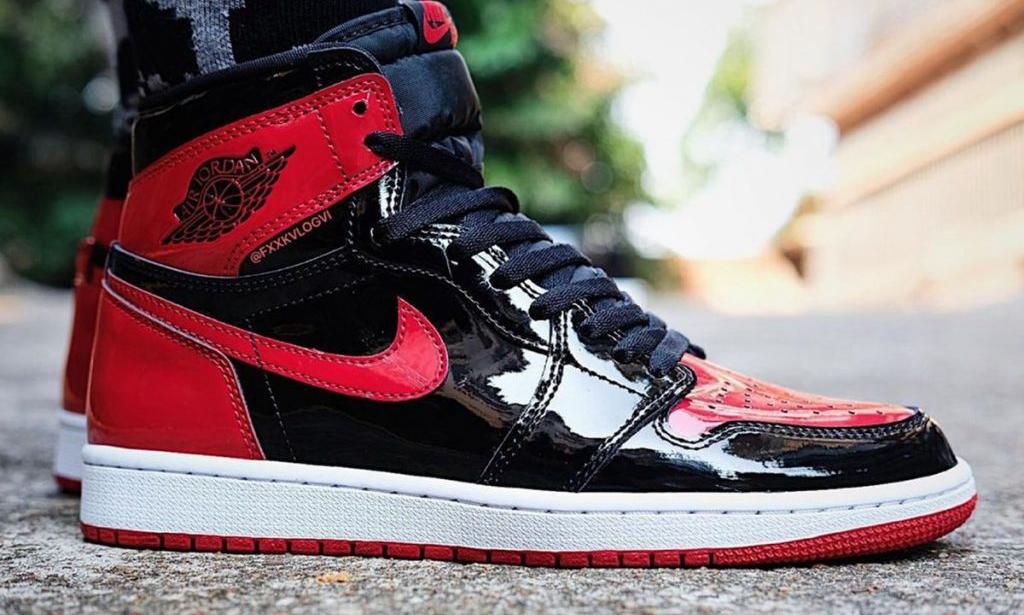 Air Jordan I High OG「Patent Bred」实物近赏