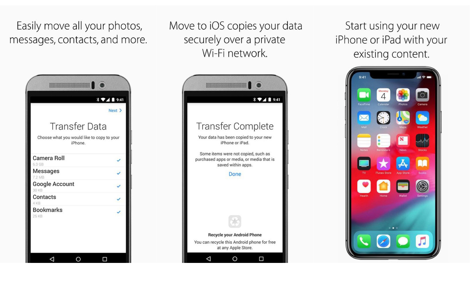 苹果升级「Move to iOS」,可迁移安卓设备文件和辅助设置