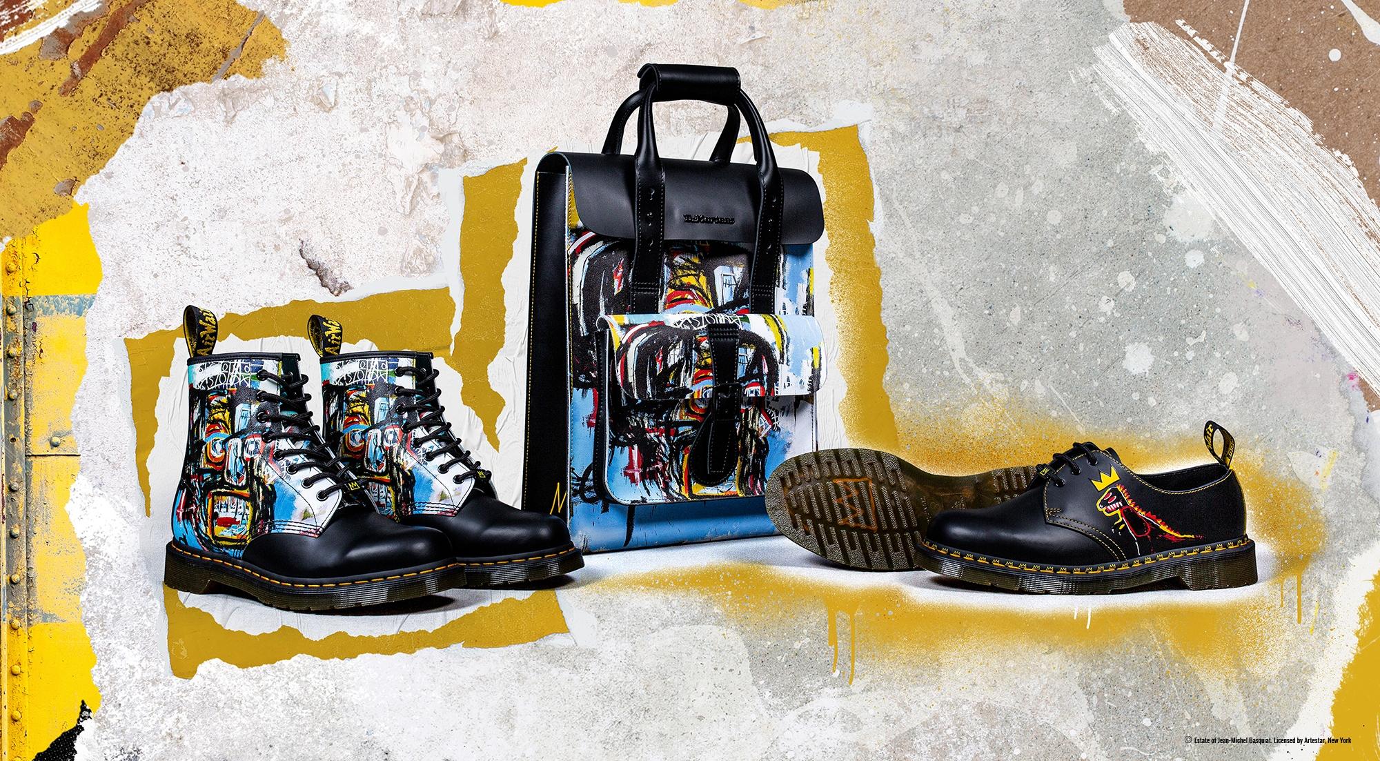 Dr.Martens 再度联合 Jean-Michel Basquiat 带来新鞋款
