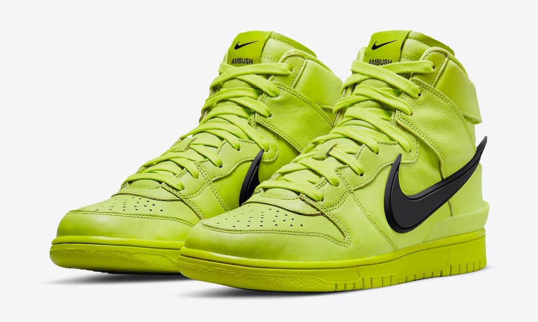 AMBUSH x Nike Dunk High「Flash Lime」发售日期确定