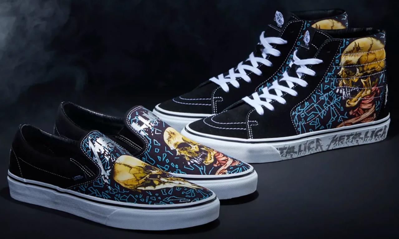 Vans 与摇滚乐队 Metallica 联手打造鞋款系列