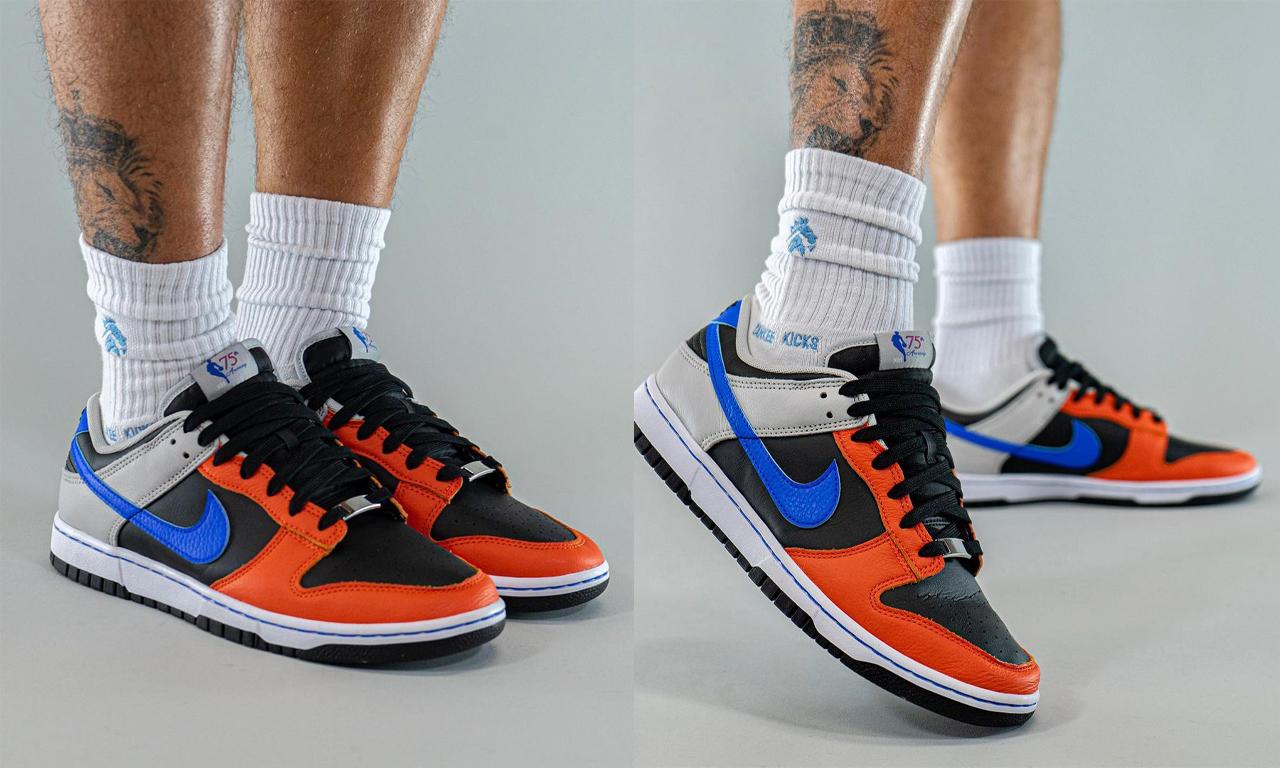 NBA x Nike Dunk Low EMB「Knicks」上脚图释出
