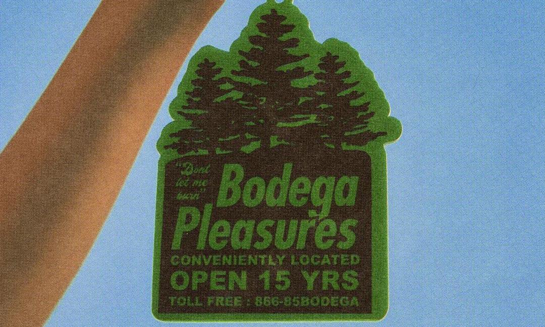 Bodega 携手 PLEASURES 推出三款空气清香片