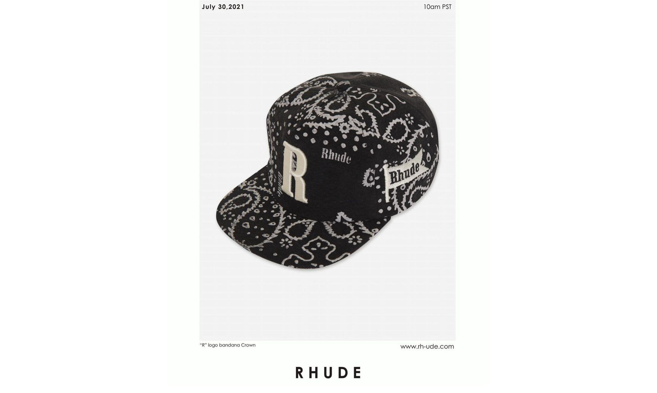 RHUDE 发布超限定腰果花帽款