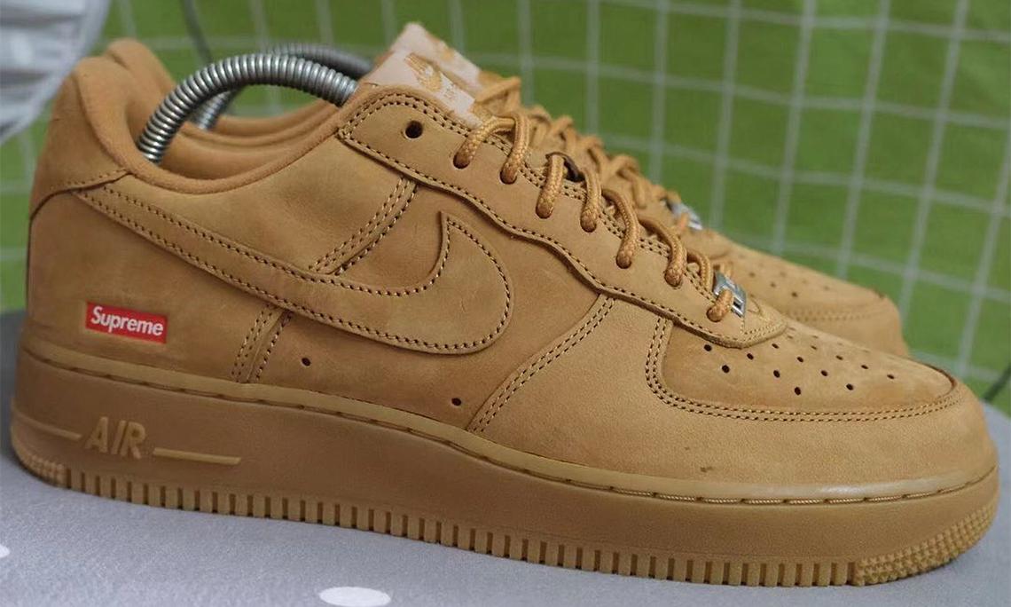 Supreme x Nike Air Force 1「Wheat」配色抢先看
