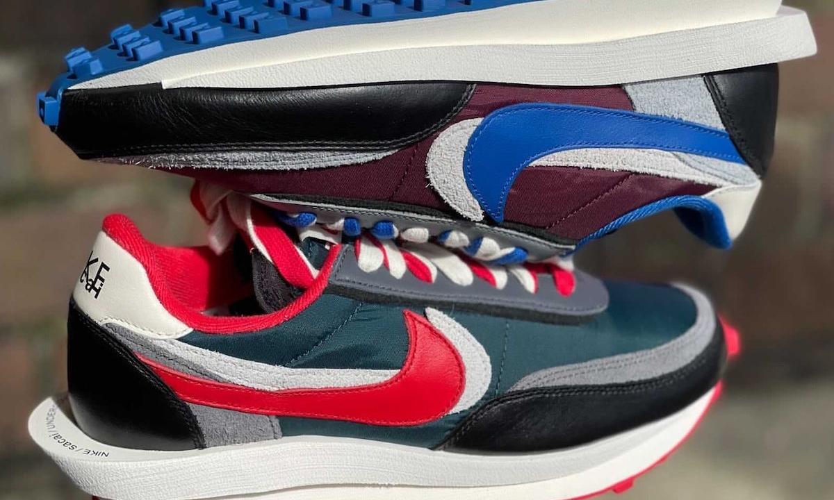 sacai x UNDERCOVER x Nike LDWaffle 鞋款实物图释出