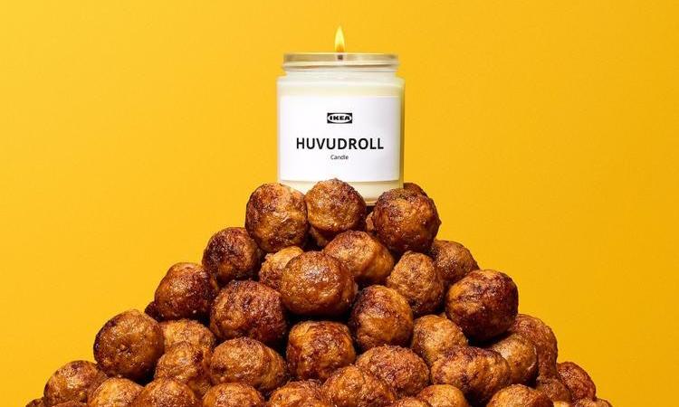 IKEA 释出 HUVUDROLL 肉丸味香氛蜡烛