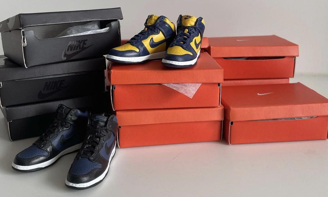 GASHAPON 推出 Nike Dunk High Mini 系列玩具