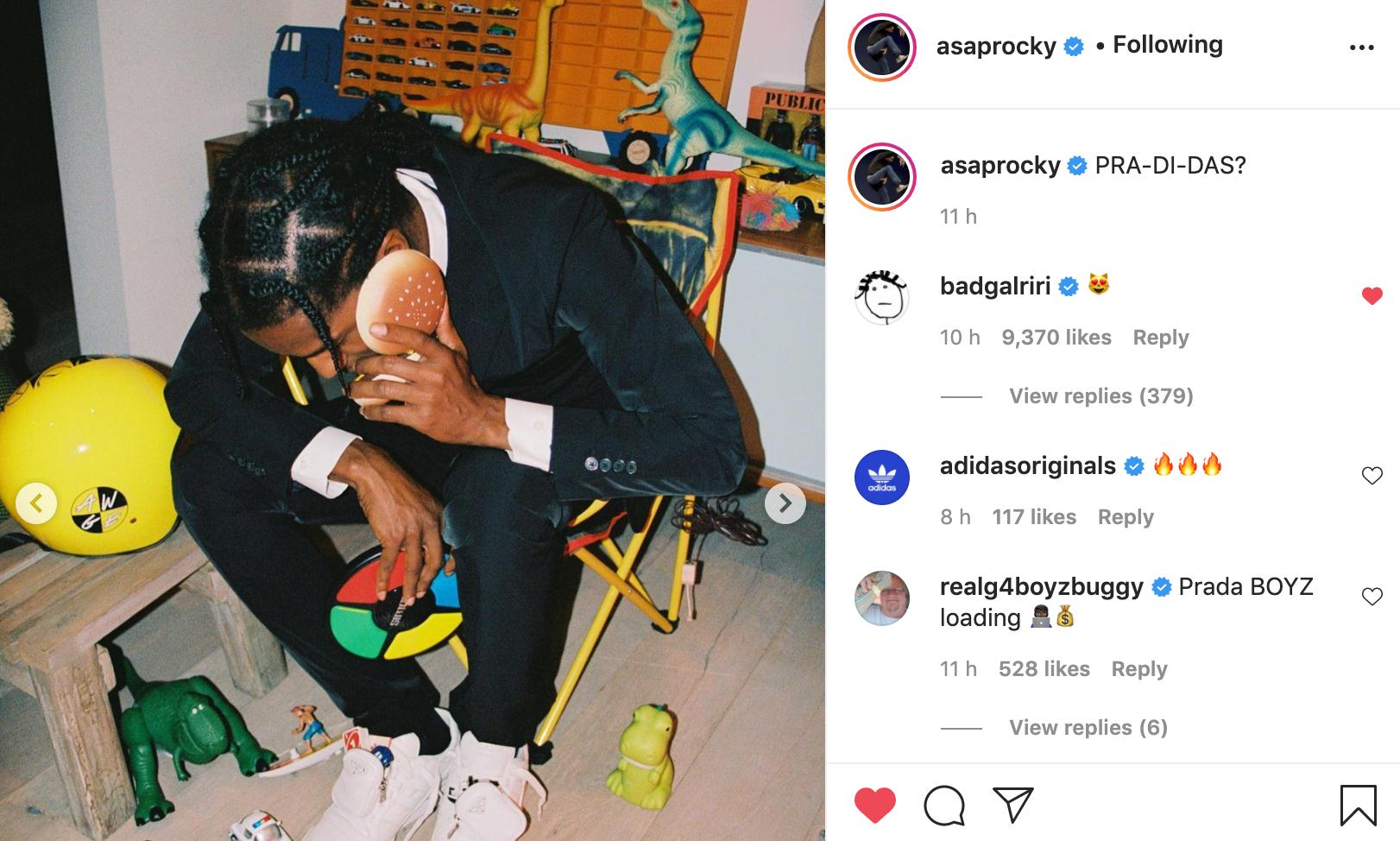 A$AP Rocky 曝光 PRADA x adidas 全新联名款 Forum