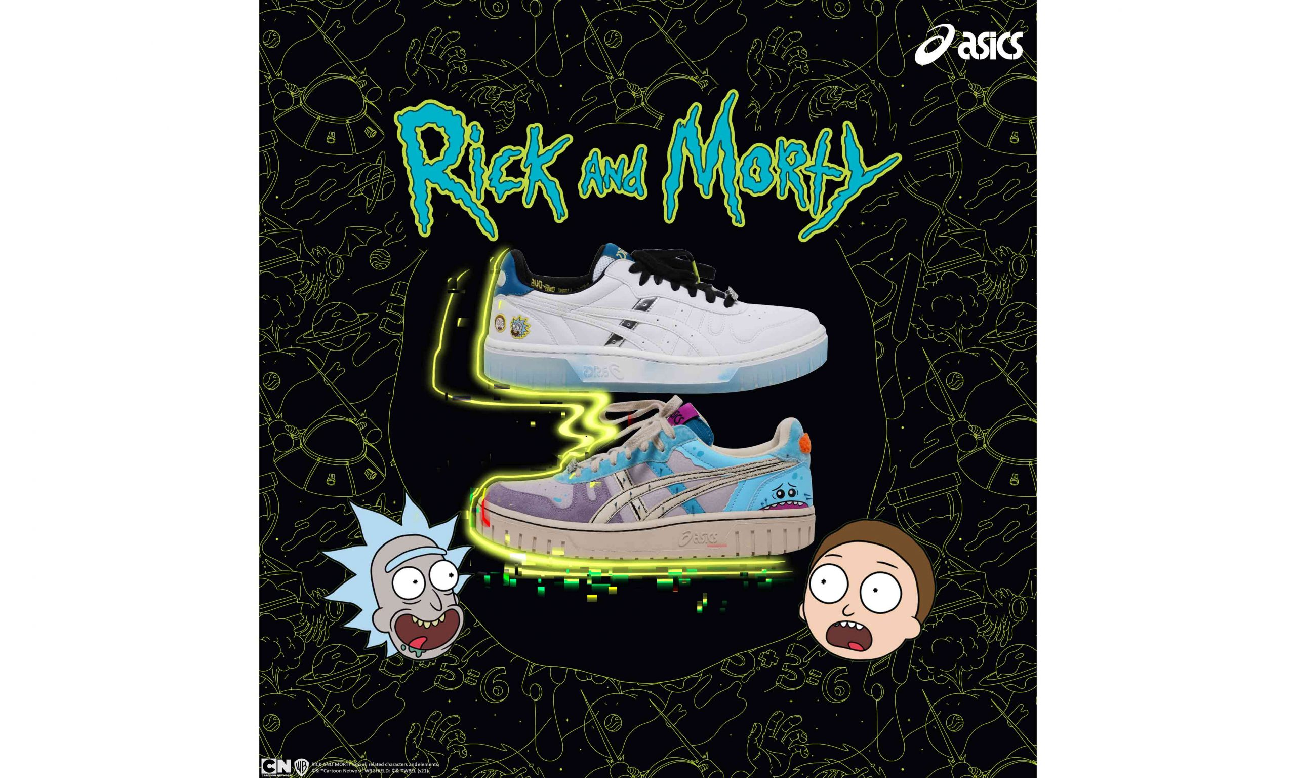 踏上星际冒险旅程,ASICS 携手 Rick and Morty 打造联名系列