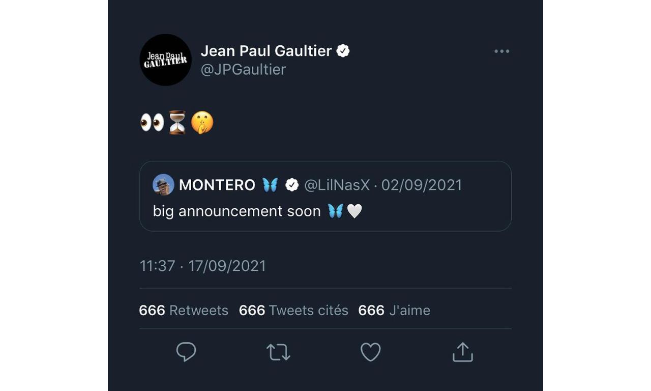 Jean Paul Gaultier x Lil Nas X 合作系列即将亮相