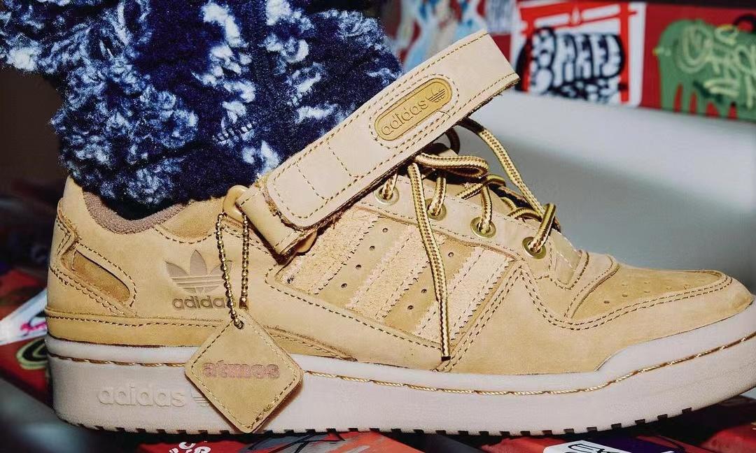 atmos x adidas Originals Forum Low「WHEAT」鞋款亮相