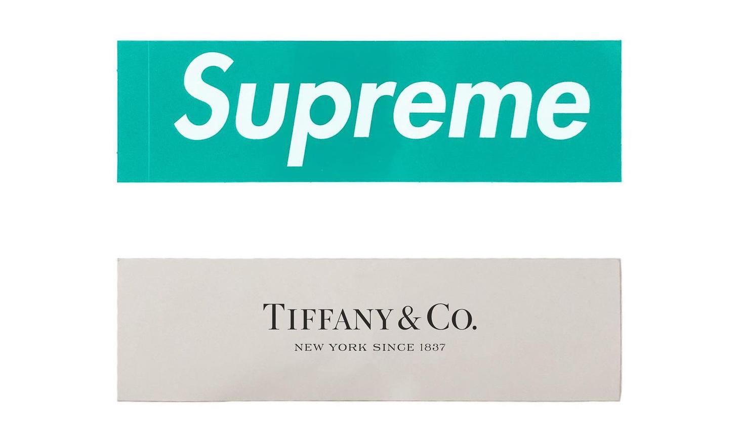 经典色调,Supreme x Tiffany & Co. 贴纸曝光