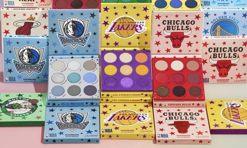 NBA 携手 Colour Pop 首次推出彩妆系列
