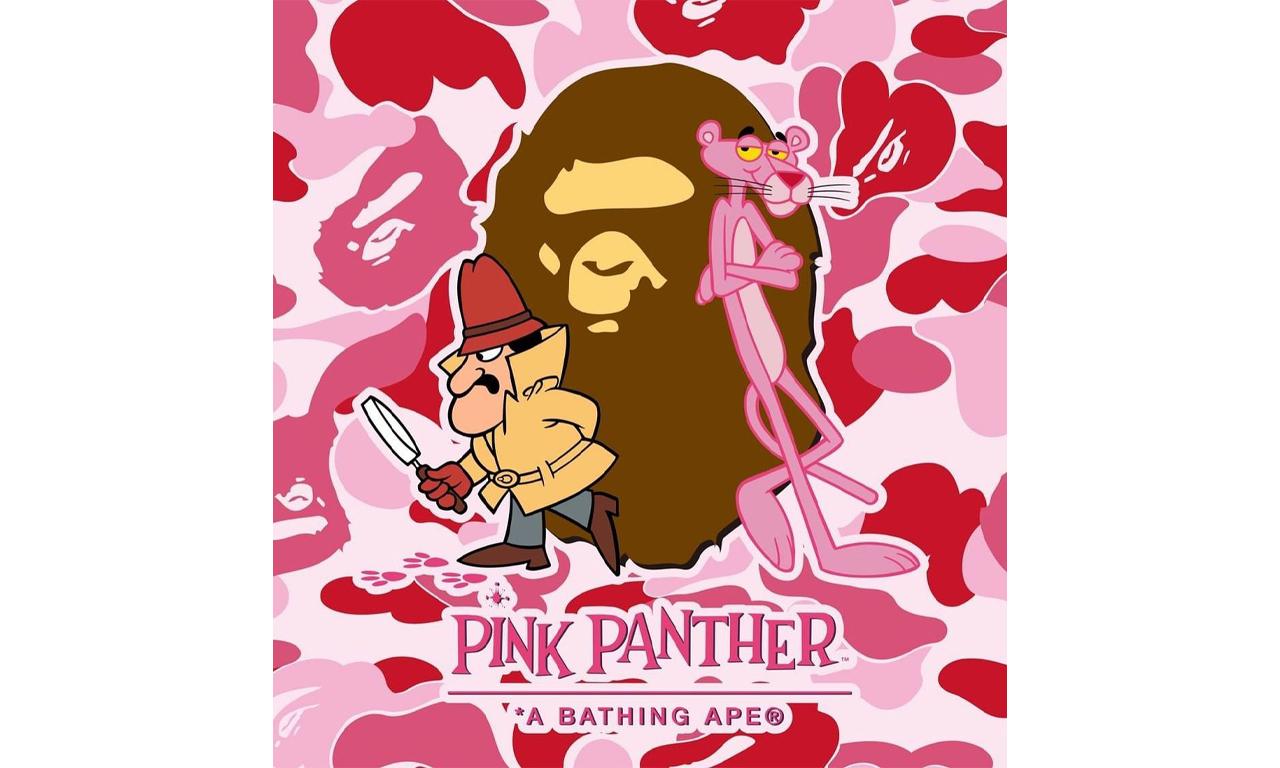 BAPE® 即将与经典卡通 Pink Panther 展开合作