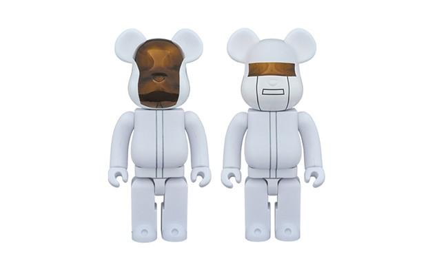 """Daft Punk x Medicom Toy """"White Suits"""" 白色版本 BE@RBRICK 玩偶"""