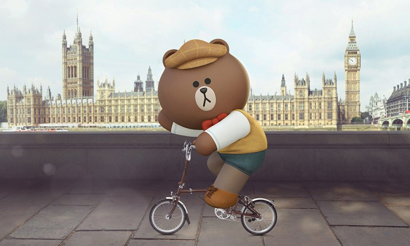 "LINE FRIENDS 携手 BROMPTON 打造限量版 ""Made for Brown"" 折叠单车"