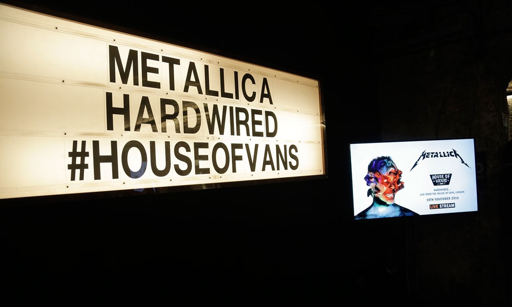 Metallica 伦敦 House of Vans 活动现场