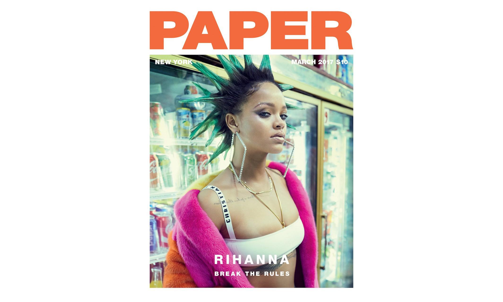 十年后,Rihanna 再次成为《PAPER》杂志封面人物
