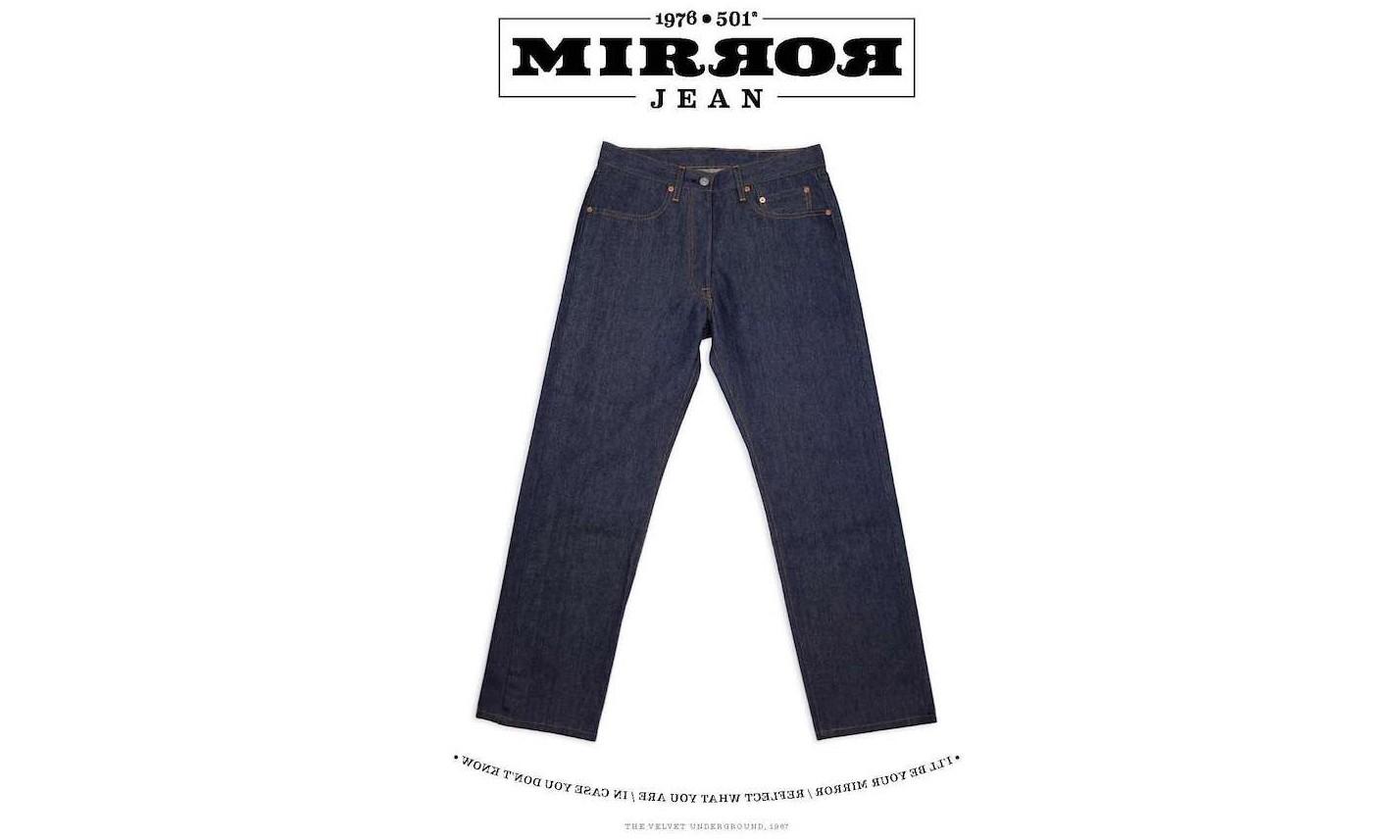 镜像设计,Levi's Vintage Clothing 推出 1976 501 Mirror Jean